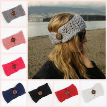 Winter Women Headwrap Fashion Lady Crochet Headband Knit Hairband Accessoire Cheveux Pour Femme 2018(China)