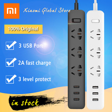 2017 Real Xiaomi Mi Smart Power Socket Portable Strip Plug Adapter With 3 Usb Port Multifunctional Home Electronics Length 1.8m