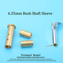 CNC Machined Rc Boat 6.35mm 1/4'' Copper Bush Flexible Axle(Shaft) Sleeve For 6.35mm Strut Rc Boat Gas Accessories Parts