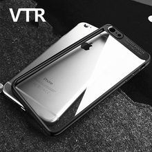 luxury phone case for iphone 7 7 plus cover matte shell plastic pc cases for iphone 8 8 plus silicone transparent soft tpu cases(China)