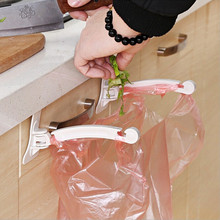 2PCS Hanging Kitchen Cupboard Cabinet Door Tailgate Stand Storage Garbage Bags Hooks Rack Home Kitchen Dining White