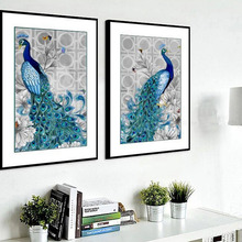 5D Full Drilled Diy Diamond Painting Cross Stitch crystal square diamond sets unfinished decorative Diamond embroidery Peacock
