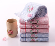 Lace Embroidered Rose Washcloth 70*34cm 100%cotton Hand Face Flower Brand Towels Set for Adults 4PCS Bathroom Use  toallas