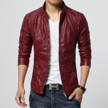 2017 PU casual leather jacket mens leather jackets and coats pilot leather jacket men plus size M-6XL high quality