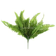 Large Soft Green Imitation Fern Artificial Grass Leaves Plant Home Wedding  Decor