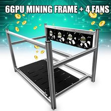 Buy LEORY Non-Stackable Open Air Mining Rig Frame Miner Case 4 LED Fan 6 GPU ETC BTH New Computer Mining Frame Server Chassis for $123.88 in AliExpress store