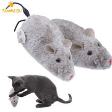 Hot Clockwork Mouse Toy for Cat Dog Pet Animals Cute Plush Rat mechanical Motion Rats For Pets Kitten Kids Toy(China)