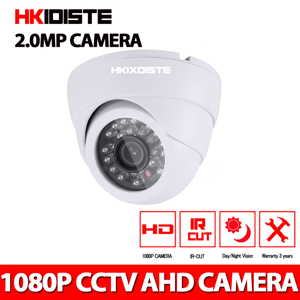 1080P HD CCTV Dome ahd Camera 2.0MP Indoor P2P Onvif 2.0mp  Camera Motion Detect<br>