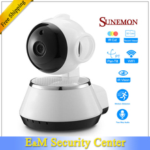 NEW 720P wifi camera Home IP PT wireless P2P IR USB Motion Detection baby monitor Alarm SD card Home Security zmodo OEM HD Onvif(China)