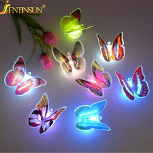Colorful 3D Butterfly Party Christmas Decoration LED Nightlight For Children Baby Bedroom Small Night Light Lamp Luminous Gift