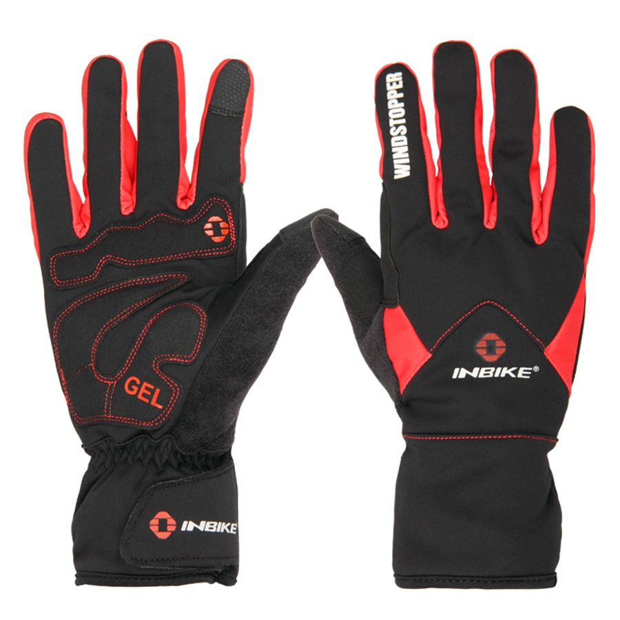 windproof 3MM gel pad winter cycling bicycle gloves touch screen outdoor sport full finger gloves mountain mtb bike gloves men<br>