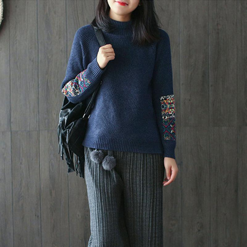 New_Half_Turtleneck_Long_Sleeve_Patchwork_Sweater_2_800x