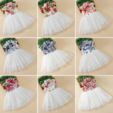 Fashion 2017 Children's Chinese Cheongsam Yarn Dress 9 Colors Girls Elegant Dresses Kids Traditional Chinese Garments 90-170cm