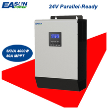 EASUN POWER 24V Solar Inverter 4000W 5Kva 80A MPPT Parallel Inverter 220V Pure Sine Wave Inverter Charger 60A Battery Charger(China)