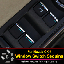 For Mazda CX-5 CX5 2012 2013 2014 ABS trim Window lift buttons sequins/decocation accessories 7pcs/set