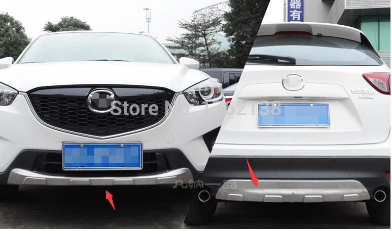 Aluminium Alloy! For Mazda CX-5 2012-2015 Front &amp; Rear Bumper Skid Protector Guard 2pcs / set<br><br>Aliexpress