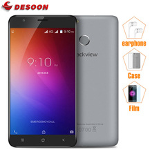 Original Blackview E7/E7S Mobile Phone 4G LTE/3G WCDMA MTK6737 1GB RAM 16GB ROM Fingerprint ID 8MP CellPhone with Earphone