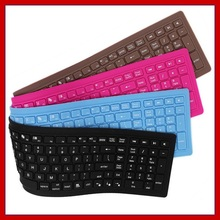 Waterproof Bluetooth Wireless Keyboard Silicone Material 108 Keys Silent Light Portable Key Panel For Travel And Home Office