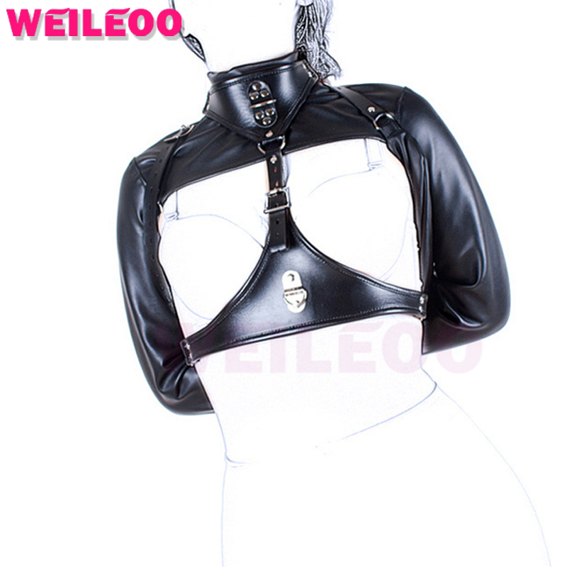 leather jacket bondage hood sex toy bdsm toy fetish slave bdsm bondage restraint erotic game adult game adult sex toy for couple<br>