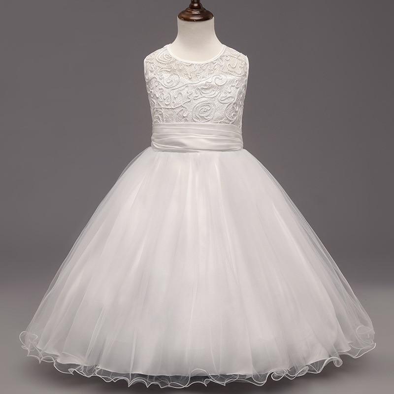 2017 Children lace flower new Vanity girls dresses for pageant dance party ceremonies girl white dress for wedding girl dress<br><br>Aliexpress