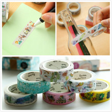 Cartoon paper tape Japanese Washi sticky note Masking DIY Stationery School photo album Scrapbooking gift box letter decor craft