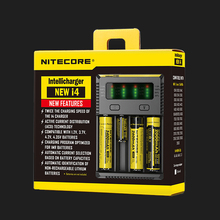 Original Nitecore I4 Battery Charger 18650 14500 16340 26650 LCD Li-ion Charger 12V Input Charing for A AA AAA Batteries