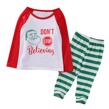 Buy Christmas Kids Baby Boys Girls Nightwear 2017 New Arrival Fashion Sleepwear Pajamas Striped Pyjamas Sets Baby Clothes Age 1-7T for $5.36 in AliExpress store