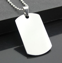best price 5pcs Both High Quality stainless steel Silver Plain Amry Dog Tag Necklace Pendant with 2.4mm 24'' Ball chain(China)