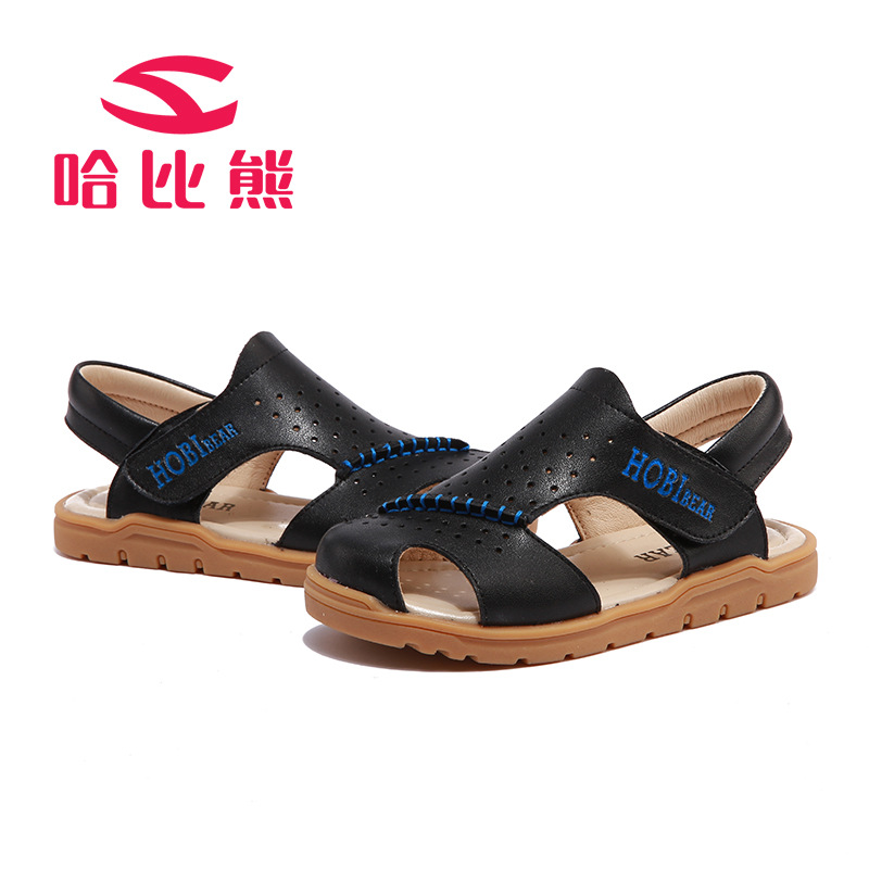 HOBIBEAR 2017 Summer New Boys Sandals Leather Nonslip TPR Kids Shoes Anti-Collision Beach Shoes For Boys<br><br>Aliexpress