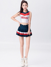 Vocole Sexy Cheerleaders Costume High School Girl Cheer Uniform Tops Skirt Set Party Outfit
