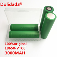 100% original 3.7V 3000 MAH Li ion rechargeable 18650 battery to us18650vtc6 vtc6 30A Electronic cigarette toys tools flashlight(China)