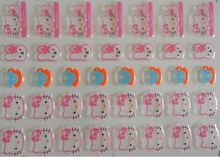 Cute pink cat Transfer food chocolate chocolate transfer paper transfer sheet birthday cake baking mold