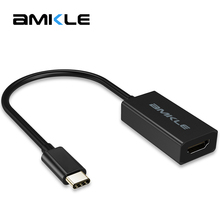 Amkle USB Type C 3.1 to HDMI Cable Type-C Male to HDMI Female 4K 1080P Adapter Cable For Macbook Laptop HDTV