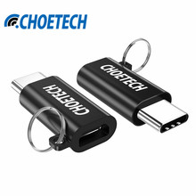 CHOETECH 2Pcs/Pack USB-C to Micro USB Adapter USB2.0 Universal Type C Adapter Converter Connector For Samsung For Macbook Tablet(China)