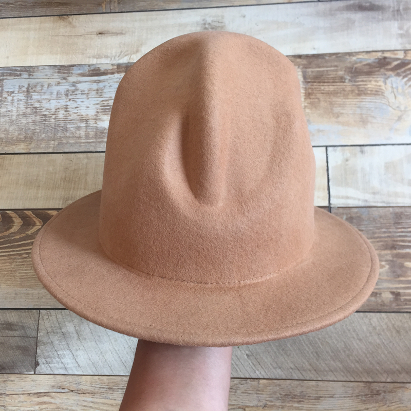 Pharrell Happy Hat felt fedora Unisex Hat Black Brown