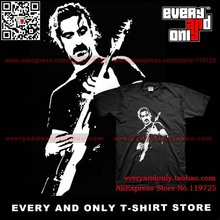 Frank Zappa Electric guitarist Fusion Jazz 100% Cotton Casual Loose Fashion Printing Men's T-shirt Tee(China)
