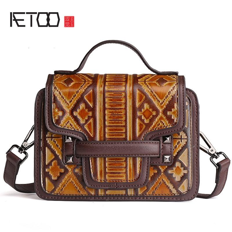 AETOO 2017 new original casual handbags wipe handbag retro crafts pure hand rubbing shoulder bag small summer flap women<br>