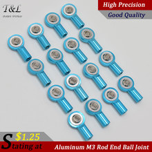 M3 Metal Ball Head Holder Tie Rod End For RC Rock Clawer Blue High Precision Good Quality