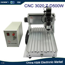 Free Shipping High Precision CNC 3020 Z-D 500W DC spindle engraving machine CNC cutting router wood engraver lathe
