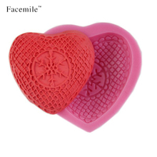 Heart Shaped Valentine Candy Chocolate Fudge Recipe from Cookies Cupcakes and Cardio Soap Making Fondant Cake Decorating Molds(China)