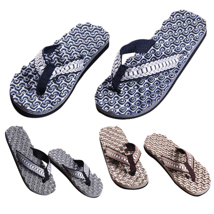 SPLENDID Men Summer Comfortable Massage Flip Flops Shoes Sandals Male Slipper indoor &amp; outdoor Flip-flops<br><br>Aliexpress