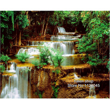 Diy diamond painting Handmade cross stitch kit waterfall Diamond embroidery 3D square Diamond Mosaic pasted full painting GT529