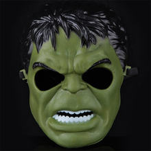 6pcs Simple Plastic Cartoon Hulk Masks without Lighting, JSF-Masks-008