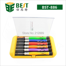 Free shipping Best 886B screwdriver set  Torx T5 T6  PH000+1.5  Flat -2.0 pentalobe 5star  0.8  1.2