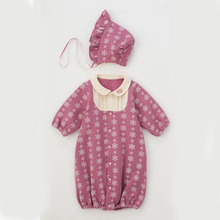 imported baby clothes designer kids snow white baby girl long sleeve peter pan collar romper girls snowflake costume jumpsuit
