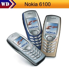 cheapest phone Nokia 6100 Original Unlocked Nokia 6100 2G GSM Mobile Phone Refurbished Cellphone(China)