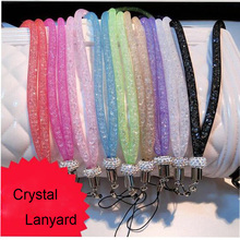 Luxury Crystal Neck Mobile Phone Straps Lanyard Fashion Diamond Keychain Charm Cords Rope For Smart Cellphone