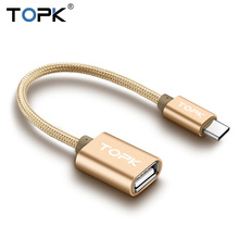 TOPK USB Type C to USB OTG Cable Adapte for Xiaomi Mi5 Mi4C Nexus 5X 6P ZUK Z1 Macbook OTG Type-c Charger Data Cable