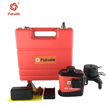 Fukuda 12 lines MW-93T lithium battery green laser level 360 Vertical And Horizontal Self-leveling Cross Line 3D Laser Level(China)