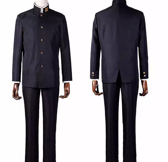 male japanese school uniform Costume Class 3 Grade 2 Black Uniform Japanese School Boys' Uniform Halloween Costume for Men